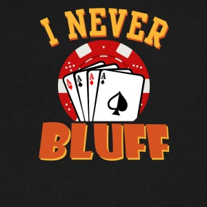 I Never Bluff - Men's V-Neck T-Shirt by Canvas