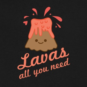 Lavas All You Need - Men's V-Neck T-Shirt by Canvas