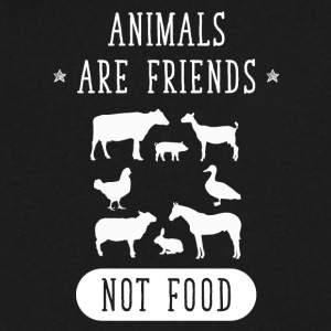 Animals are friends not food - Men's V-Neck T-Shirt by Canvas