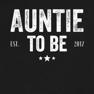 Auntie to be est 2017 - Men's V-Neck T-Shirt by Canvas