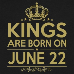 Kings are born on JUNE 22 - Men's V-Neck T-Shirt by Canvas