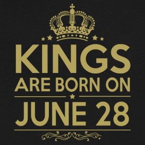 Kings are born on JUNE 28 - Men's V-Neck T-Shirt by Canvas