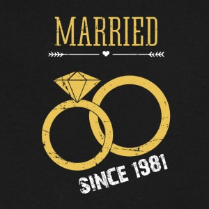 Married since 1981 - Men's V-Neck T-Shirt by Canvas