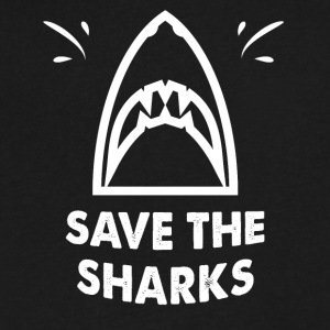 Save the sharks - Men's V-Neck T-Shirt by Canvas