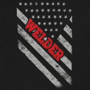 Welder Flag - Men's V-Neck T-Shirt by Canvas