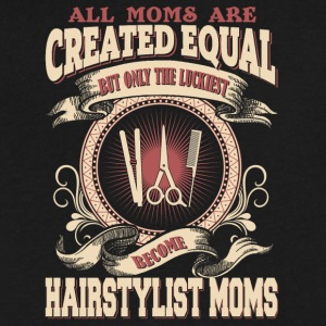 The Luckiest Become Hairstylist Moms - Men's V-Neck T-Shirt by Canvas