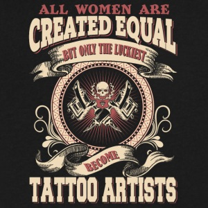 The Luckiest Women Become Tattoo Artists - Men's V-Neck T-Shirt by Canvas