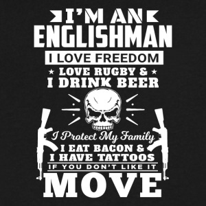 I'M AN ENGLISHMAN - LOVE RUGBY - Men's V-Neck T-Shirt by Canvas