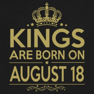 Kings are born on August 18 - Men's V-Neck T-Shirt by Canvas