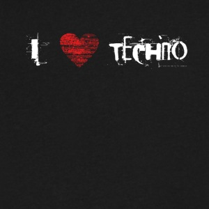 I love techno rave goa hardtek hardstyle - Men's V-Neck T-Shirt by Canvas