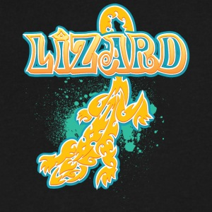 Lizard_with_text_29 - Men's V-Neck T-Shirt by Canvas
