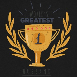 World's Greatest Husband - Men's V-Neck T-Shirt by Canvas