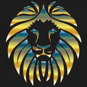 Prismatic Lion Design - Men's V-Neck T-Shirt by Canvas