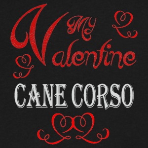 A romantic Valentine with my Cane Corso - Men's V-Neck T-Shirt by Canvas