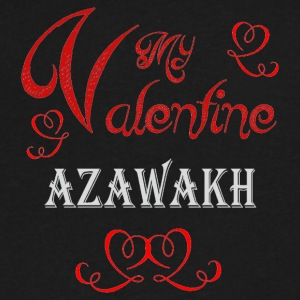 A romantic Valentine with my Azawakh - Men's V-Neck T-Shirt by Canvas