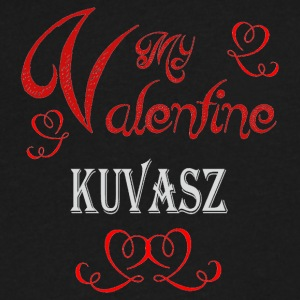 A romantic Valentine with my Kuvasz - Men's V-Neck T-Shirt by Canvas