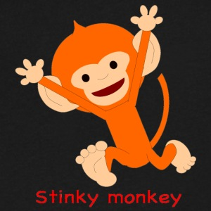 Pongo Stinky monkey - Men's V-Neck T-Shirt by Canvas