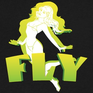 fly_girl - Men's V-Neck T-Shirt by Canvas