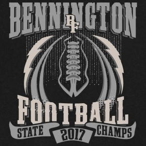 Bennington BF Football State 2017 Champs - Men's V-Neck T-Shirt by Canvas