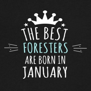 Best FORESTERS are born in january - Men's V-Neck T-Shirt by Canvas