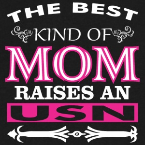 The Best Kind Of Mom Raises An USN - Men's V-Neck T-Shirt by Canvas