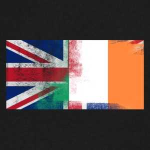 British Irish Half Ireland Half UK Flag - Men's V-Neck T-Shirt by Canvas