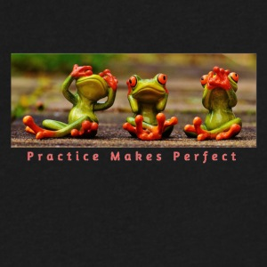 Practice Makes Perfect - Men's V-Neck T-Shirt by Canvas