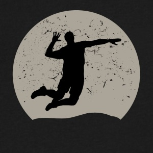 Volleyball Full Moon - Men's V-Neck T-Shirt by Canvas