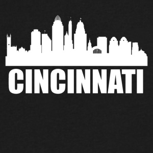 Cincinnati OH Skyline - Men's V-Neck T-Shirt by Canvas