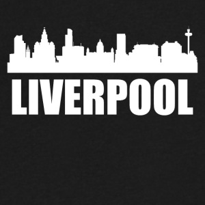 Liverpool Skyline - Men's V-Neck T-Shirt by Canvas