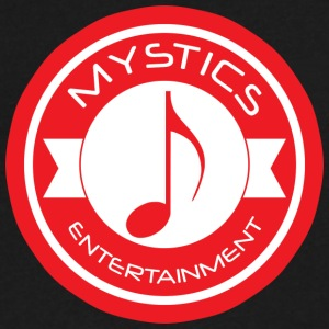 mystics_ent_red_logo - Men's V-Neck T-Shirt by Canvas