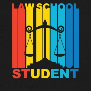 Vintage Law School Student Graphic - Men's V-Neck T-Shirt by Canvas