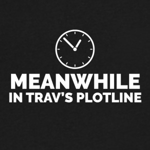 Trav's Plotline - Men's V-Neck T-Shirt by Canvas