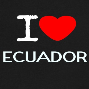 I LOVE ECUADOR - Men's V-Neck T-Shirt by Canvas