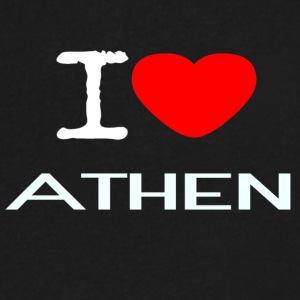 I LOVE ATHEN - Men's V-Neck T-Shirt by Canvas