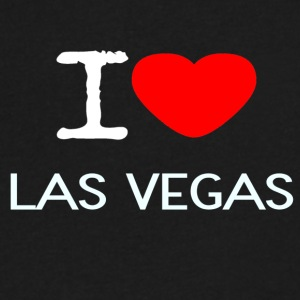 I LOVE LAS VEGAS - Men's V-Neck T-Shirt by Canvas