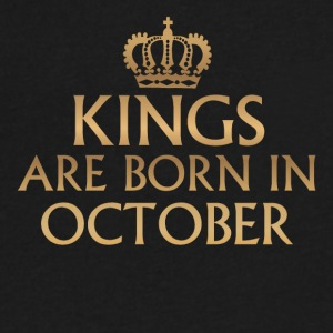 Kings are born in October - Men's V-Neck T-Shirt by Canvas