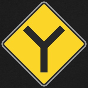 Road_Sign_Y_way_yellow - Men's V-Neck T-Shirt by Canvas
