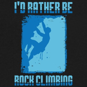 I'd rather be Rock Climbing - Men's V-Neck T-Shirt by Canvas