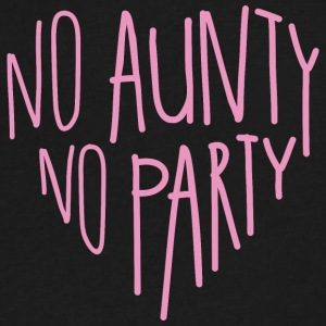 Baby Bodysuit 'no aunty no party' - Men's V-Neck T-Shirt by Canvas