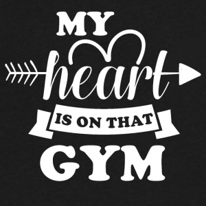 My heart is on that Gym - Men's V-Neck T-Shirt by Canvas
