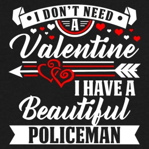 Valentineday - BEAUTIFUL POLICEMAN T-Shirt - Men's V-Neck T-Shirt by Canvas