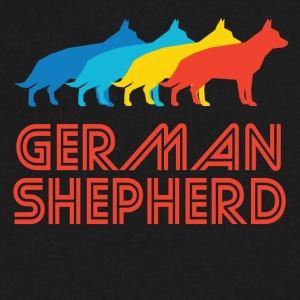 German Shepherd Pop Art - Men's V-Neck T-Shirt by Canvas