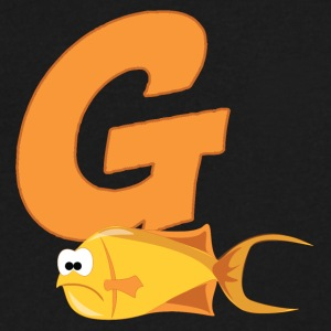 G Is For Goldfish - Men's V-Neck T-Shirt by Canvas
