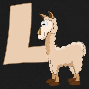 L Is For Llama - Men's V-Neck T-Shirt by Canvas