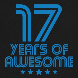 17 Years Of Awesome 17th Birthday - Men's V-Neck T-Shirt by Canvas