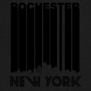 Retro Rochester New York Skyline - Men's V-Neck T-Shirt by Canvas