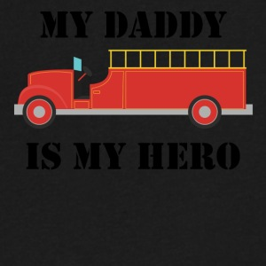 My Daddy Is My Hero Firefighter - Men's V-Neck T-Shirt by Canvas