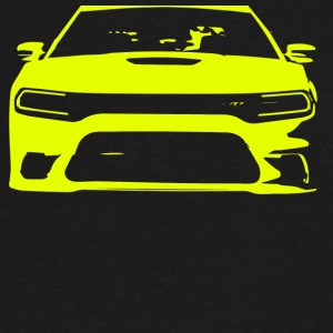 Yellow SRT Charger - Men's V-Neck T-Shirt by Canvas