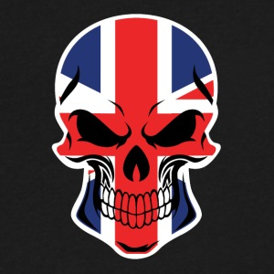 British Flag Skull - Men's V-Neck T-Shirt by Canvas